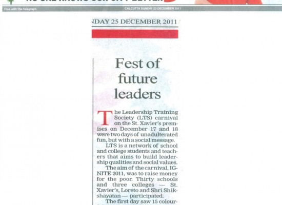 Shri Shikshayatan College participates in The Leadership Training Society