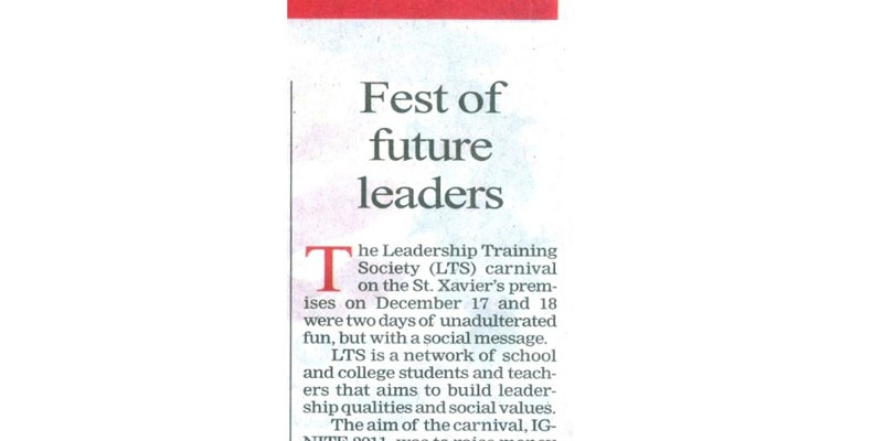 Shri Shikshayatan College participates in The Leadership Training Society