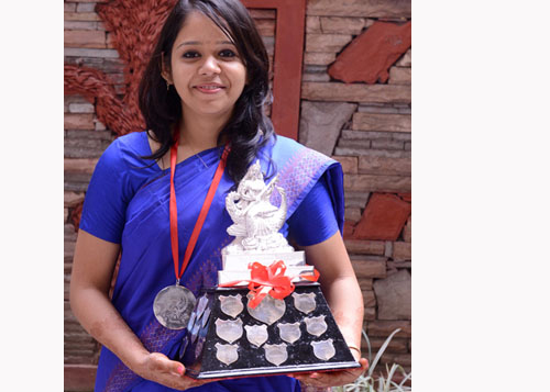 Rabina Jaiswal shares her feelings after winning the coveted Saraswati Trophy for the Year 2013-14