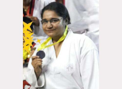 Swati Keshan Won Gold Medal In State Level Taekwondo Championship,2015.