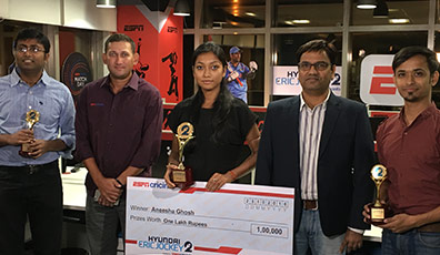 Annesha Ghosh (B.A. English (H) of 2014) winner of Hyundai Cric Jockey Season 2 shares her story